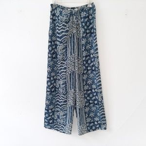 Summer Palazzo Pants Travel Polyester Adjustable M